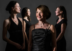 Trigon Ensemble. From left to right: Marijke Meerwijk, Maria van Oosterhout, Margot Kalse, Esther Kronenburg.